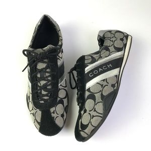 Coach Shoes - Coach Jayme Logo Leather Trim Sneakers #990
